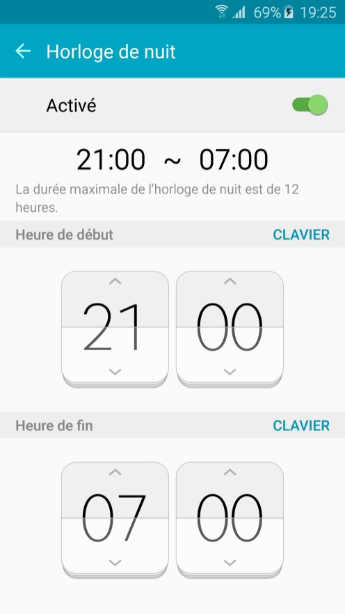 Galaxy S6 edge Horloge Nuit 02