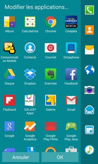 Samsung Galaxy Note Edge Modification Panneau