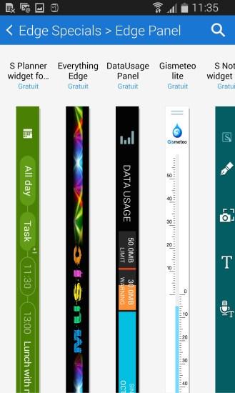 Samsung Galaxy Note Edge Telechargement Panneaux