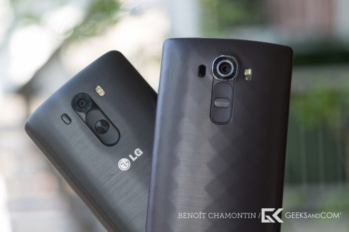 LG G3 (à gauche) vs LG G4 (à droite)