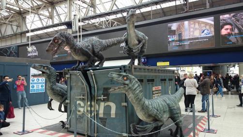 Dinosaures Jurassic World Londres Waterloo