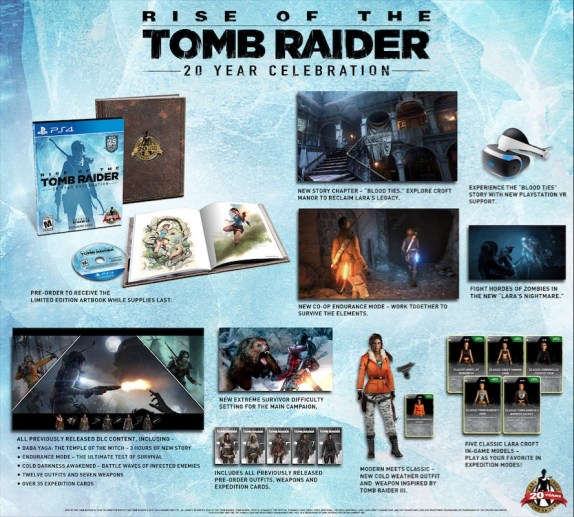 Rise of the Tomb Raider 20 Years Celebration Description