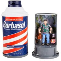 Check Out JURASSIC PARK Fake Barbasol Can and Dennis Nedry Action Figure