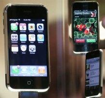 iPhone on display