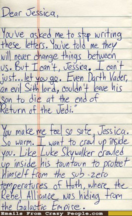 star wars inspired love letter pic