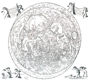 A map of the moon from 1647