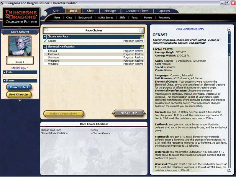fun with the d d 4th edition character builder