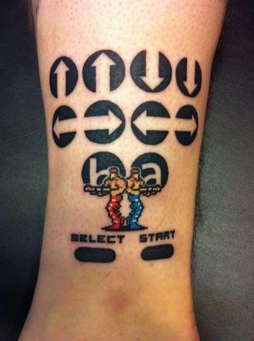 konami code tattoo picture