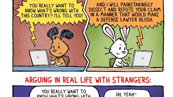 Arguing with Strangers: On the Internet vs. In Real Life [Comic]