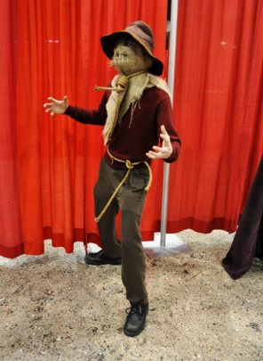 A pretty awesome scarecrow