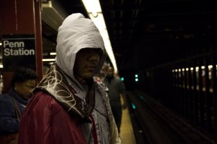 Ezio Auditore da Firenze Waiting for the Subway (New York Comic Con 2011)