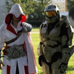 Race and Deanna as Ezio and Spartan