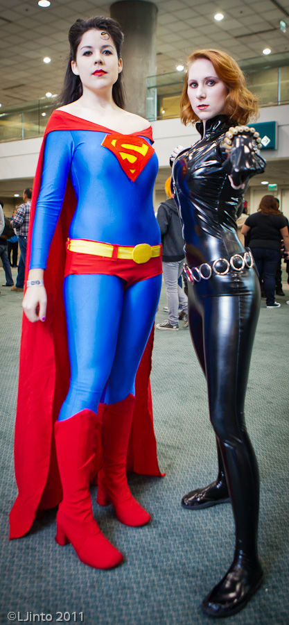 Super Woman and Black Widow