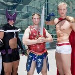 Gender Bent Justice League Hunter, Wonder Man and Power Lad