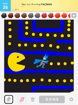 Drawsome Batman-Pacman