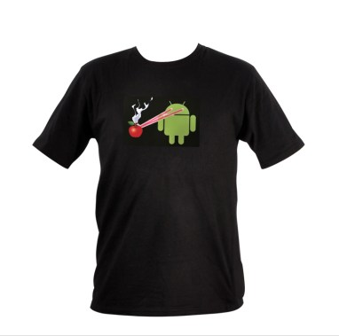 Sound Activated Android Destroying Apple Tee