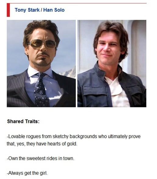 Tony Stark / Han Solo