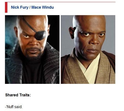 Nick Fury / Mace Windu