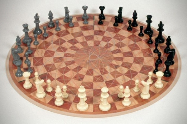 3 man chess set ups the ante on the classic game