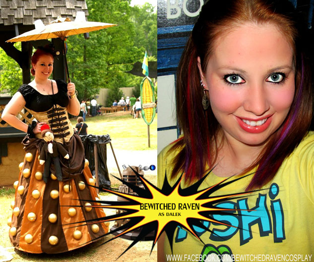 Bewitched Raven as a Dalek from Dr. Who