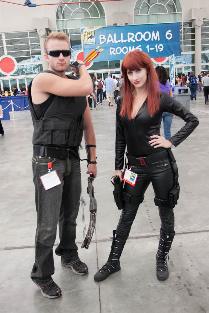 Hawkeye and Black Widow - SDCC 2012 - Hayley Sargent