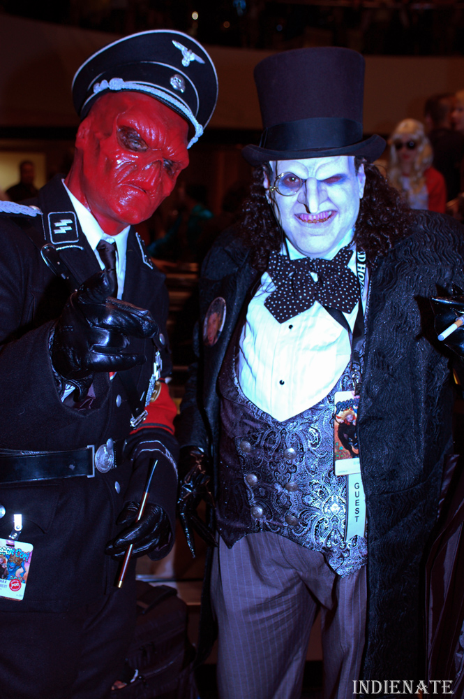 Red Skull and The Penguin - creepiest cross over ever