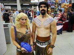 Khal Drogo and Daenerys Targaryen at Montreal Comic Con 2012