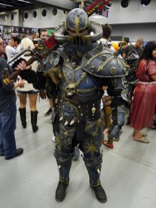 Warhammer 40k, Chaos Space Marine with Chainsword at Montreal Comic Con 2012