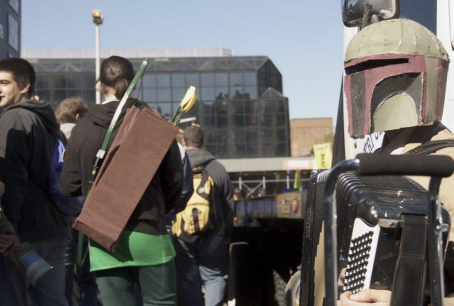 Accordion Playing Boba Fett @ New York Comic Con 2012 (NYCC)