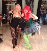 Charlotte and friend - Catwoman and Poison Ivy
