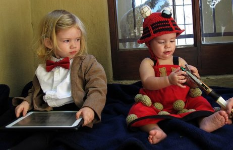 Jennifer's daughters as Dr. Who and Dalek