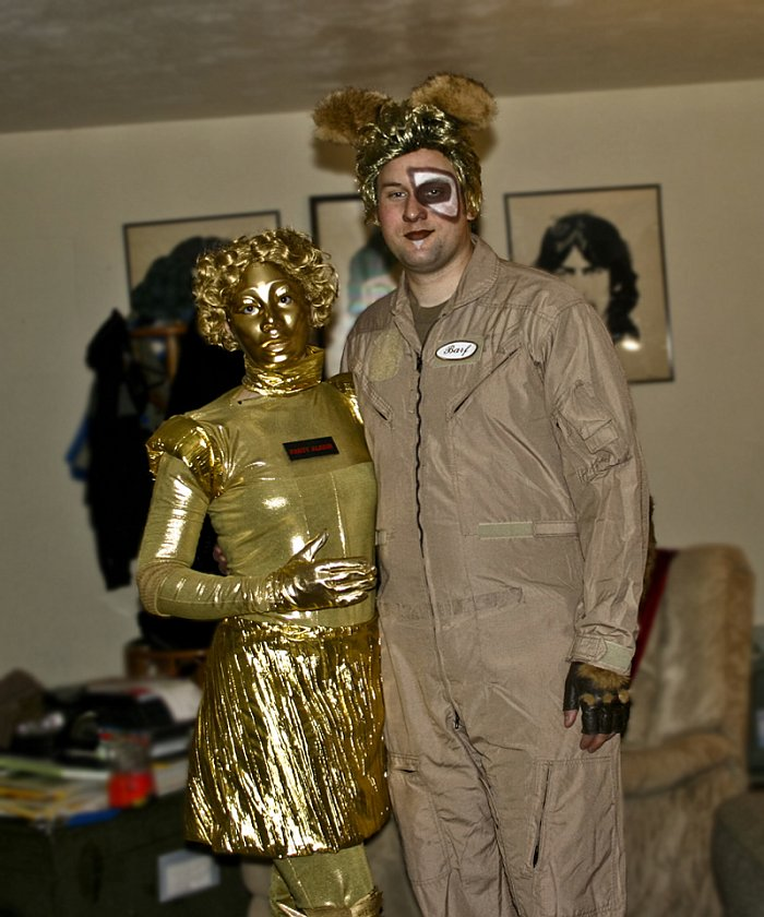 Justin Rampage and his Wife - Barf and Dot Matrix