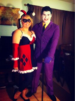 Mandy M. and Friend as Harley Quinn and The Joker