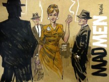 Mad Men Comic Style Joan