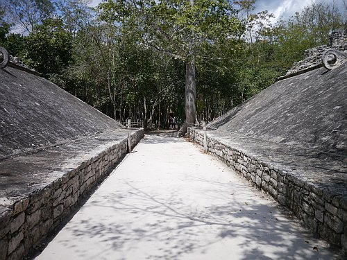 One of two ballgame courts at Coba - Picture Credit: Geeks are Sexy (March 2011)
