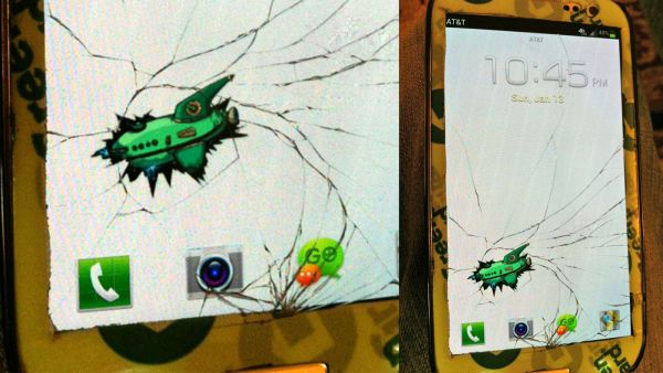 cracked screen image