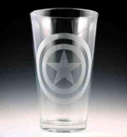 Captain America Pint Glass