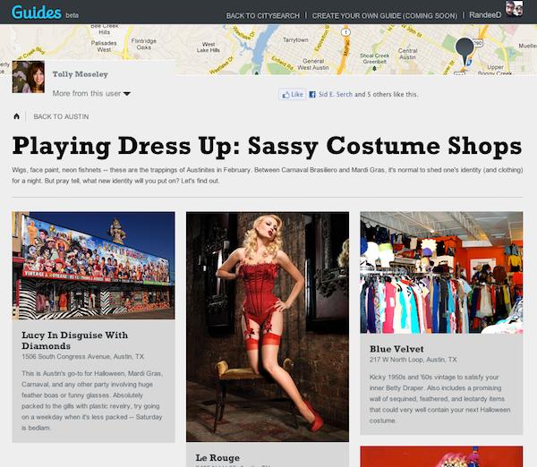 Citysearch Guide Costume Shop