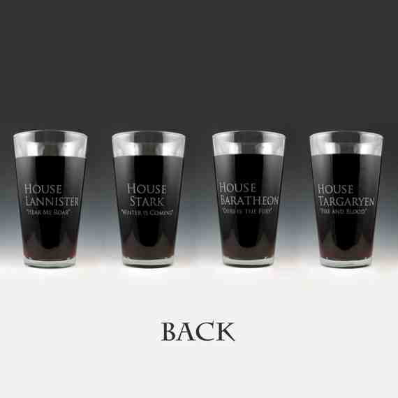 Game of Thrones Pint Glass (Back)