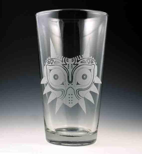 Legend of Zelda Majora's Mask Pint Glass
