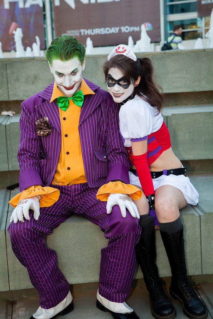 Joker and Harley Quinn - Picture by Mooshuu - WonderCon 2013