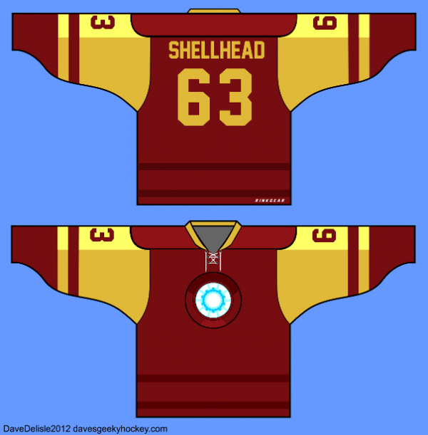 Shellhead hockey jersey
