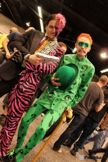 The Riddler and Two-Face - Picture by Pat Loika - WonderCon 2013