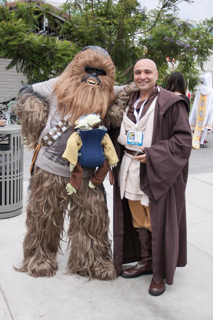 Chewbacca and Jedi Knight - San Diego Comic-Con (SDCC) 2013 (Day 3)