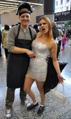 Dexter and Victim - Montreal Comic Con 2013 - Picture by Geeks are Sexy