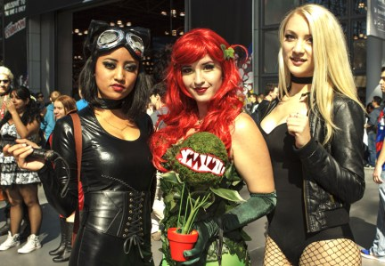 Catwoman, Poison Ivy and Black Canary - New York Comic Con (NYCC) 2013 - Geeks are Sexy