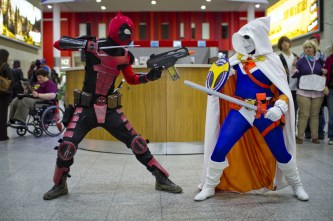Deadpool Fighting - MCM London Comic-Con 2013