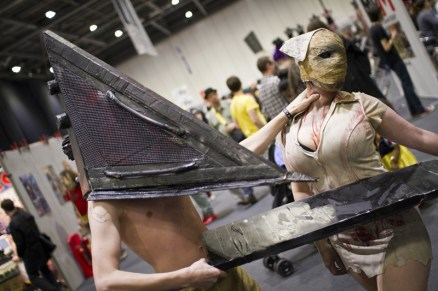 Pyramid Head and Silent Hill Nurse - MCM London Comic-Con 2013