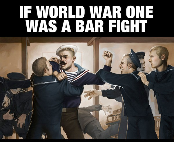 If WWI was a bar fight