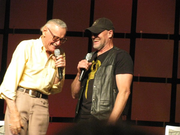 "Michael Rooker, who also appears in ""Guardians of the Galaxy,"" crashed Stan Lee's panel."